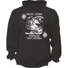 "Brutal Attack  ""Stronger Than Before""  Hoodie Black"